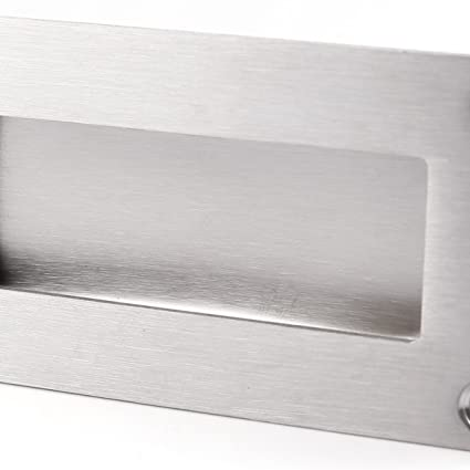 Tirador Empotrado de Acero Inoxidable para Puerta Corredera Armario Cajón Mueble Gabinete (rectangular): Amazon.es: Bricolaje y herramientas