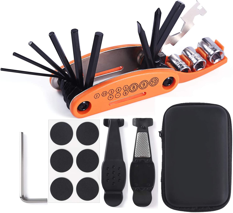 COZYROOMY Kit Reparación Herramientas Bicicleta,10 en 1 Herramienta multifunción (con Separador Cadena) y Accesorios de Repuesto, Llave de Llave de Hueso y Paquete Herramientas.: Amazon.es: Deportes y aire libre