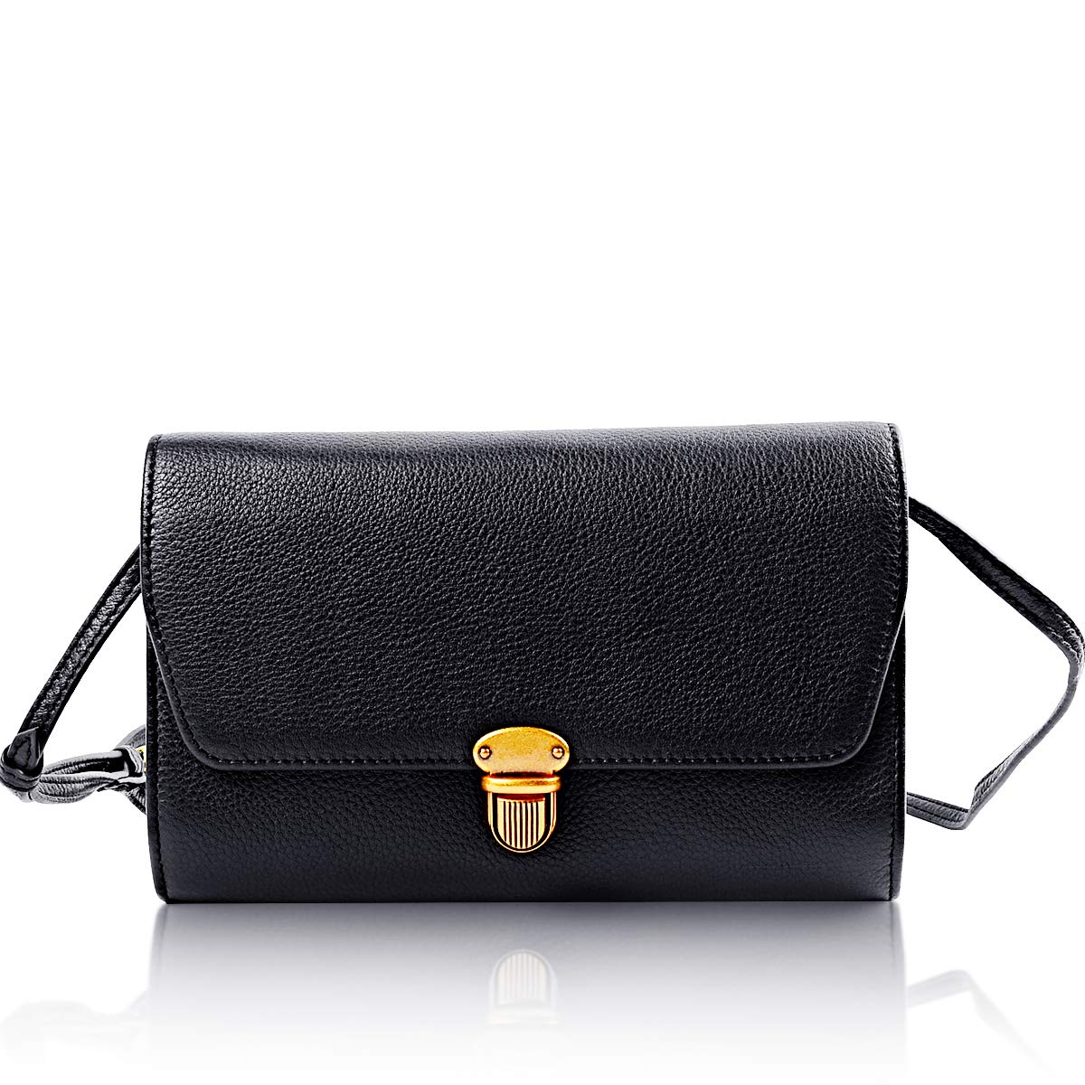 Genuine Leather Crossbody Bag, Women Leather Handbag Purse Clutch Envelope Bag, Party Ball Evening Bag