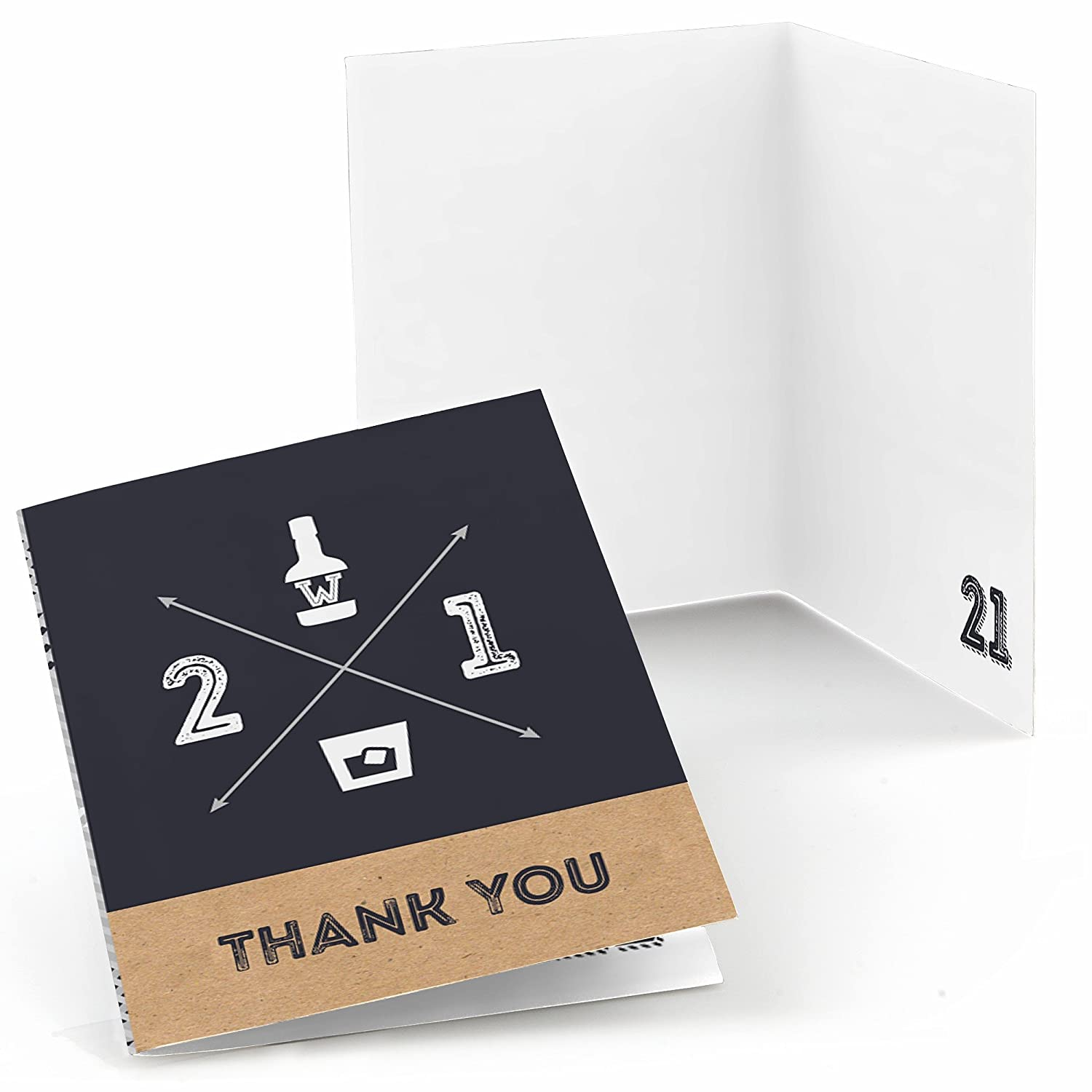 Big Dot of Happiness Finally 21 21st Birthday Birthday Party Thank You Cards 8 Count