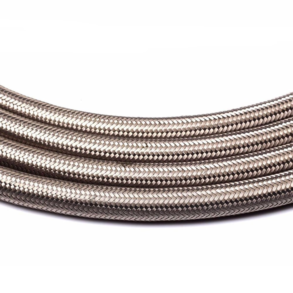SUNROAD 6AN 10 Ft Universal Premium Braided Stainless Steel Fuel Line Filler Feed Hose Ends Kit