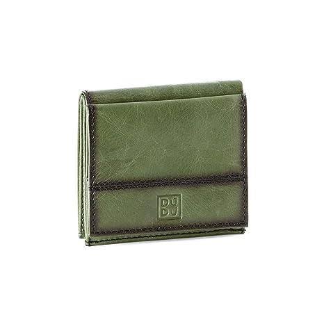 taglia 40 03e65 e8394 Portafoglio uomo in pelle con portamonete esterno e porta carte di credito  DUDU Verde