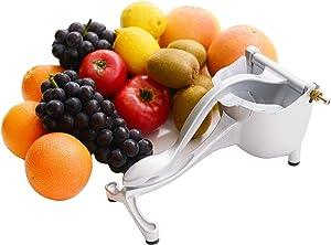 Stainless Steel Fruit Juicer Hand Press Squeezer – Premium Quality Manual Fruit Juicer – Food-Grade Plastic Inserts – User-Friendly and Practical Design – Ideal for Orange, Lemon, Pomegranate