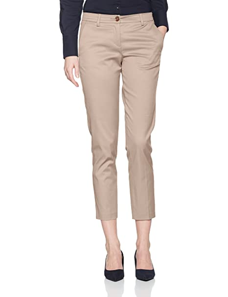 Benetton Regular Fit Chino Trouser, Pantalones para Mujer, Gris (Grey), 10 (Talla del Fabricante: 42)