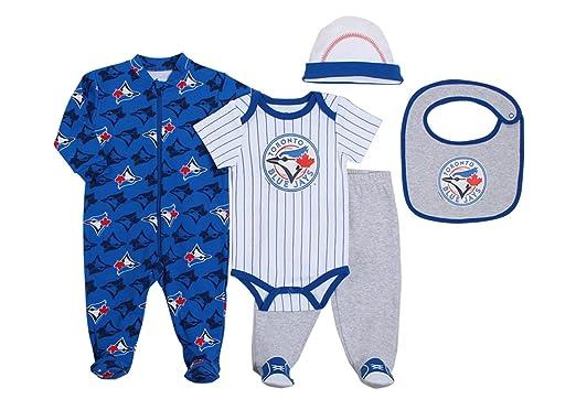 online store 66cc1 a1294 Snugabye MLB Toronto Blue Jays 5-Piece Baby Layette Set