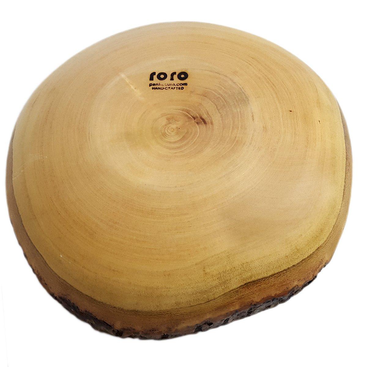 roro Handcarved Wood Fruit and Centerpiece Bowl 12 Inch Live-Edge Bark Pankesum RRoBowBk12