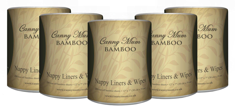 cannymum multiusos bambú 2en 1de pañal y toallitas (200hojas/rollo) Canny Way CM-5905950