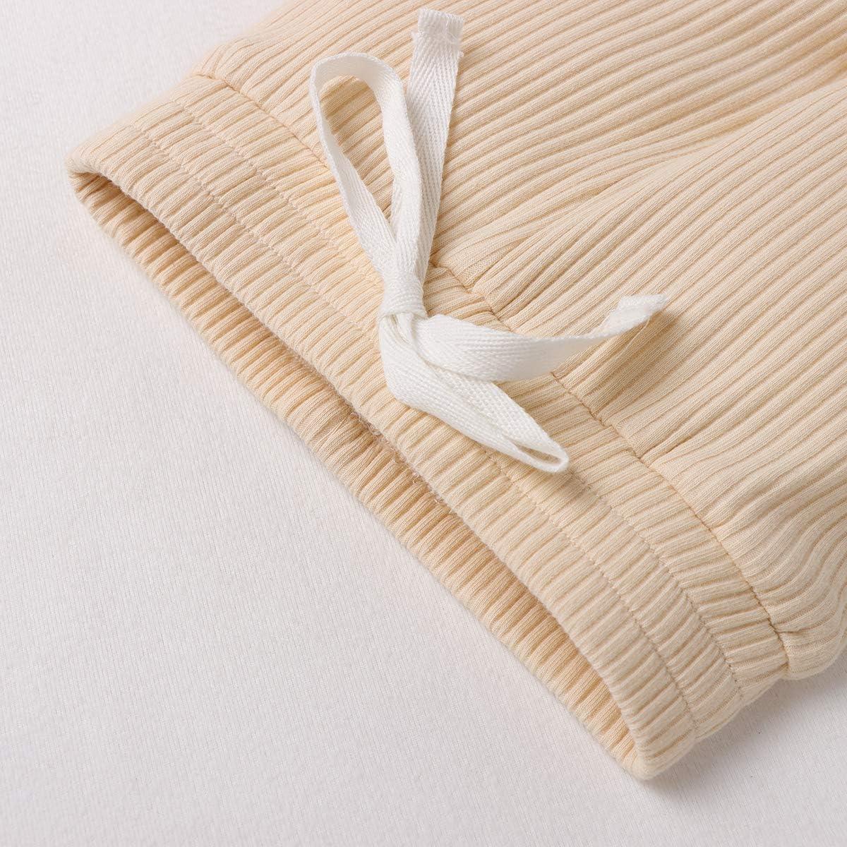 Neugeborene Outfits Baby Jungen M/ädchen Nachtw/äsche Pyjamas Sets Langarm Strampler Hosen Einfarbig Winter Warme Kleidung 0-24 Monate