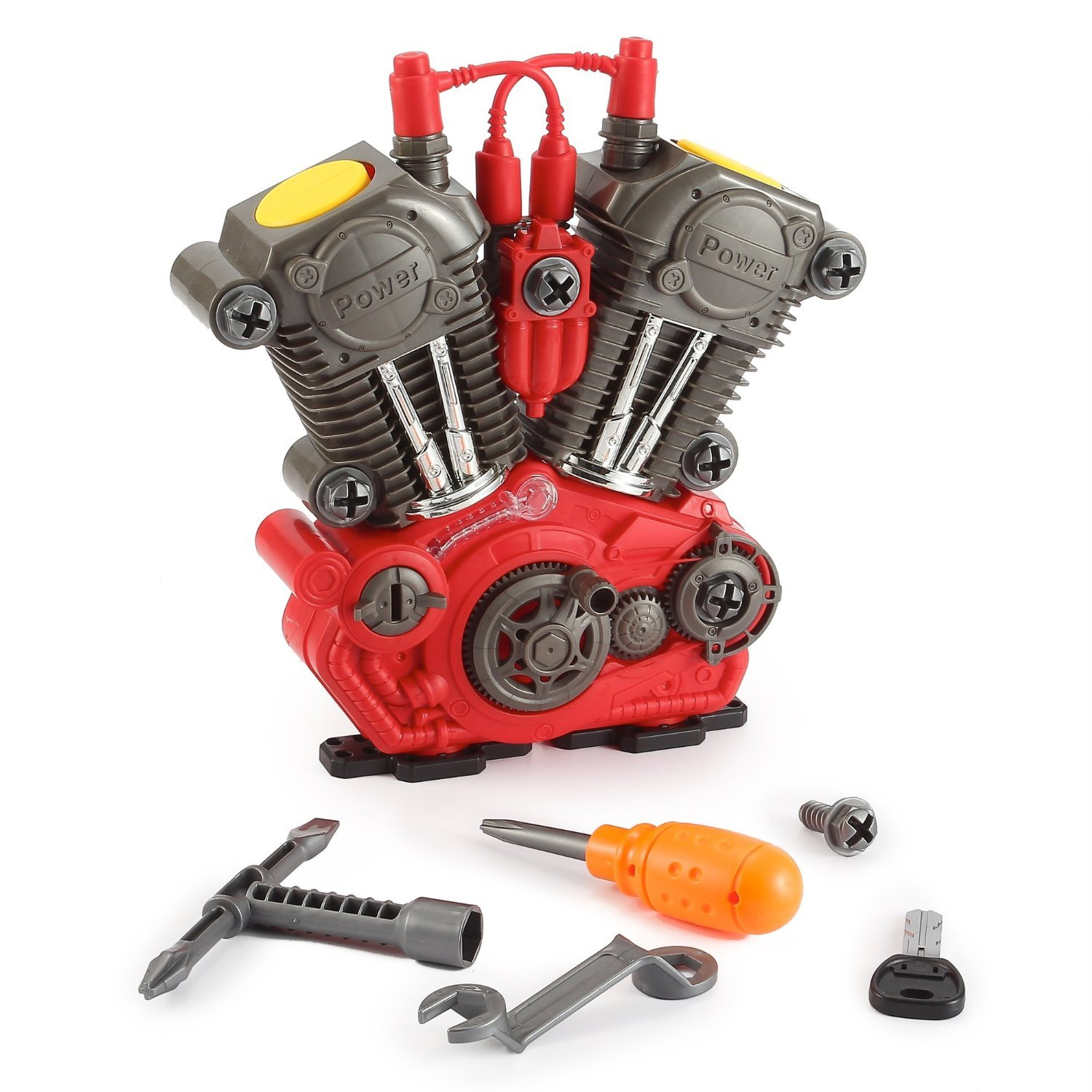 amazoncom build your own engine overhaul toy set for kids 20 pieces take apart kit by powertrc toys games