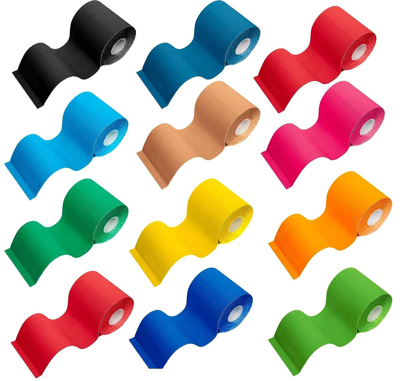 Rotolo di nastro kinesiologico / lunghezza rotolo: 5m / disponibile in larghezze diverse: 2,5, 5, 7,5 e 10 cm /cerotto kinesiologico / kinesio tape / elevata compatibilità cutanea 100% cotone, supporta i muscoli e le articolazioni per infortuni sportivi e