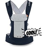 Gemini Performance Baby Carrier by Beco–Multiposición Soft estructurado Sling W/correas ajustables y comodidad acolchado para Infant/Toddler Hip Apoyo, Malla cool con bolsillo
