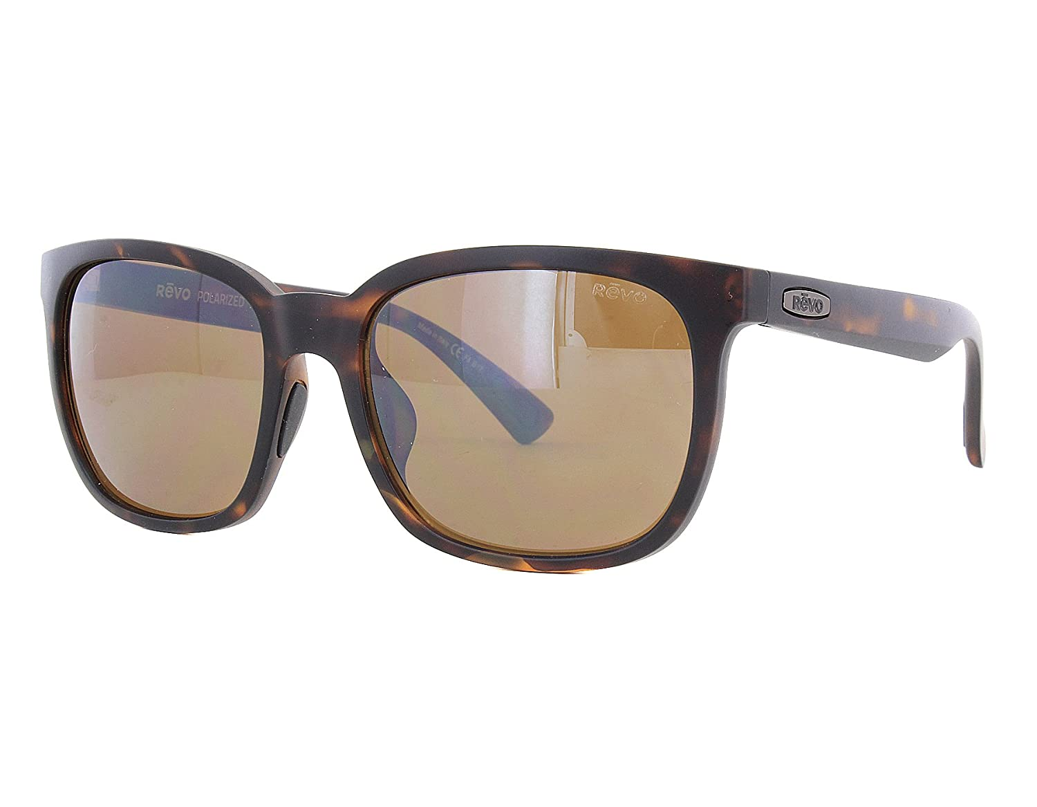 Revo RE 1050 Slater Polarized Wayfarer Sunglasses 55 mm Matte Tortoise Terra
