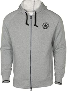 904f4f8ae51199 Converse Men s All Star Core Plus Two Way Full Zip Hoodie-Heather Grey