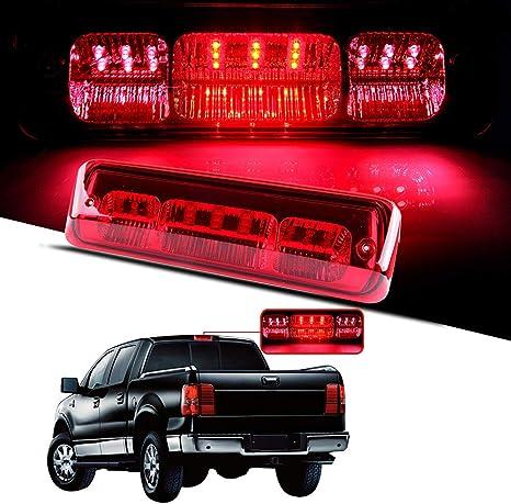 Youxmoto LED 3rd Brake Light High Mount Stop Light For 2007-2018 Toyota Tundra Rear Tail Light Cargo Lamp Waterproof 81570-0C050 531069 Chrome Housing Clear Lens