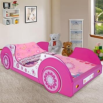 Kinderbett auto weiss  Kinderbett Jugendbett Butterfly Jugendliege Mädchenbett Mädchen ...
