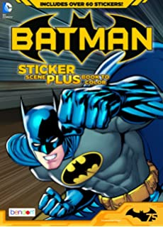 bendon publishing batman sticker scene plus book to color - Batman Coloring Books