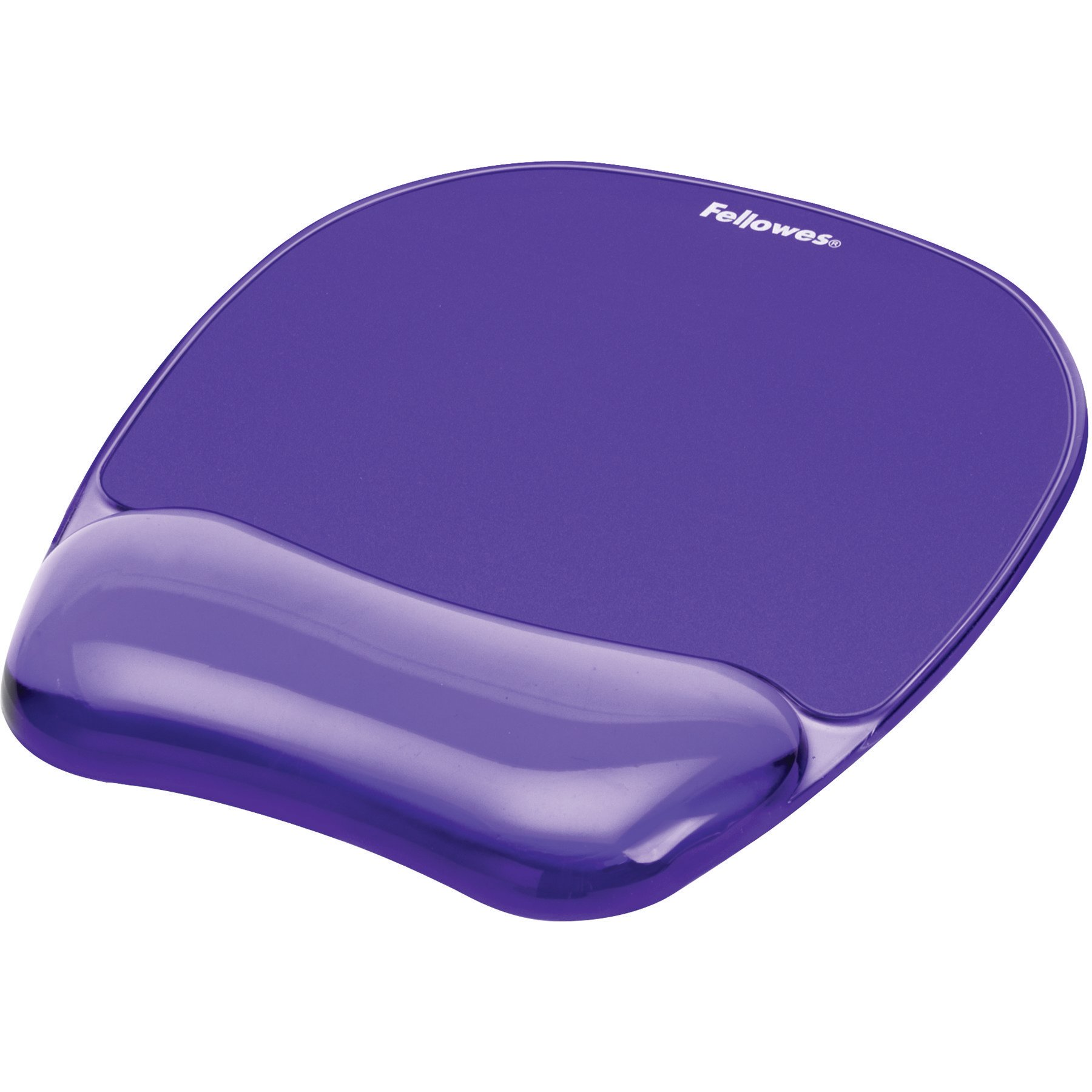Gel Crystal Transparent Mousepad and Wrist Rest - Purple by Fellowes