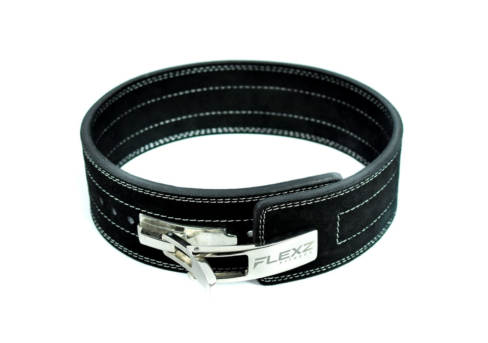 Flexz Fitness Lever Buckle Powerlifting Belt 10mm Weight Lifting Black Medium by Flexz Fitness (Image #2)