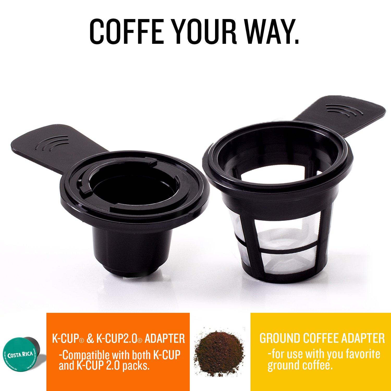 Silver/Black BELLA 14392 Dual Brew Single Serve Coffee Maker ...