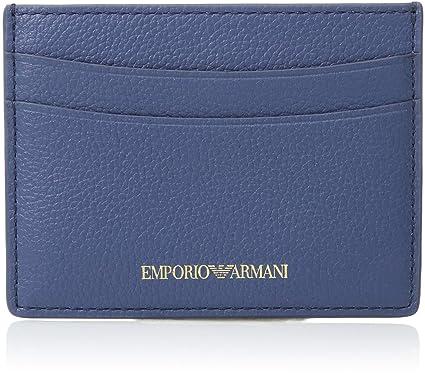 Amazon.com  Emporio Armani Classic Credit Card Holder, Baby Blue ... 88a4ac22c8