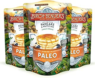product image for Paleo Pancake and Waffle Mix by Birch Benders, Made with Cassava, Coconut, Almond Flour, Just Add Water, 12 Ounce (Pack of 3)