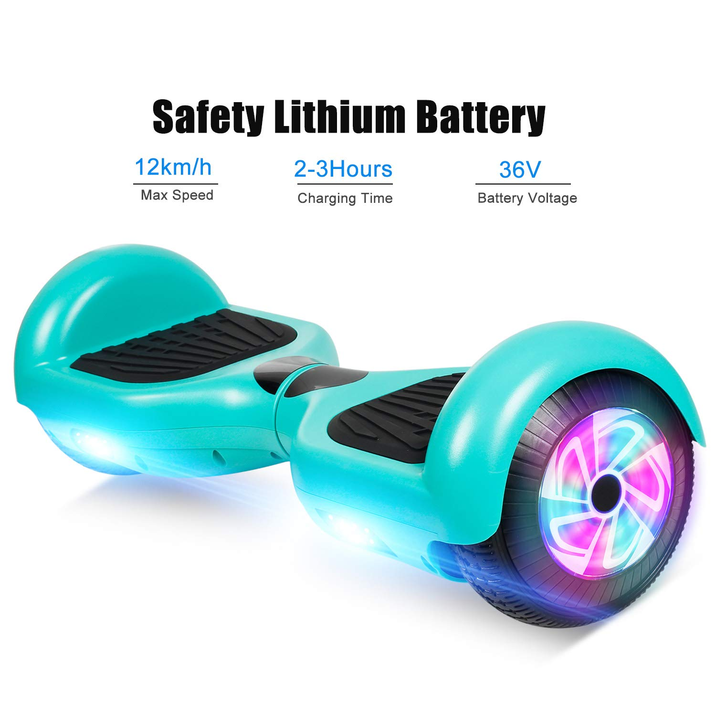 LED Lights Huanhui 6.5 Hoverboard Elektro Scooter Elektro Skateboard Self Balance Scooter Bluetooth Lautsprecher Starker Dual Motor 2 * 300W