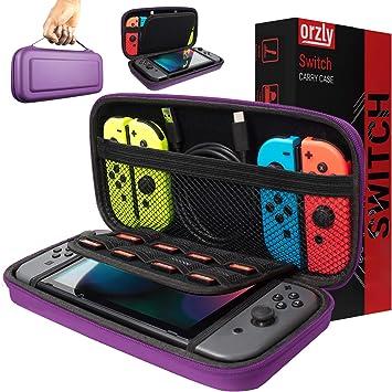 Orzly Funda Transportar la Nintendo Switch – PÚRPURA Funda Dura de ...