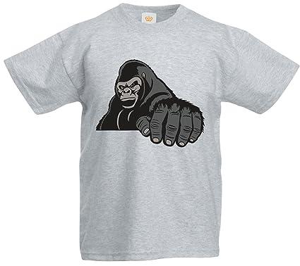 b5b60260 Kids Gorilla King Kong T Shirt Wild Animal Zoo: Amazon.co.uk: Clothing