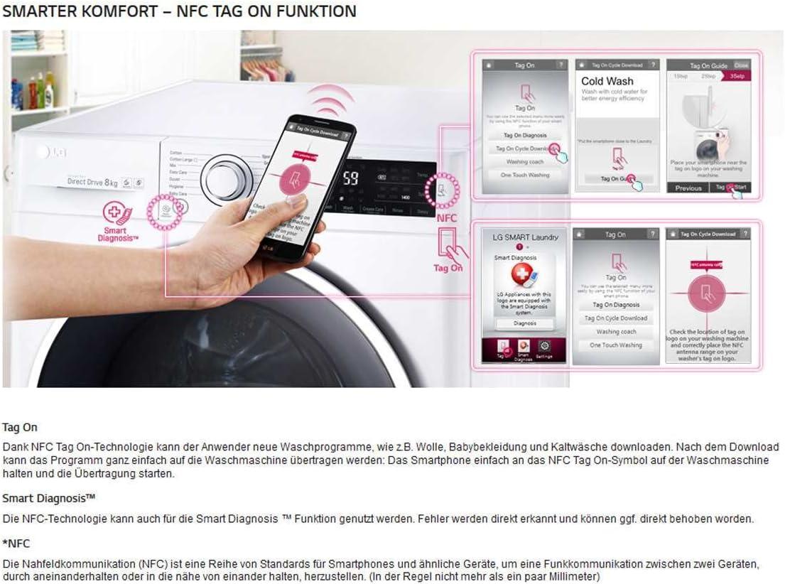 LG F 12 WD 74slim wascht rockner Color Blanco Smart beladungs de ...