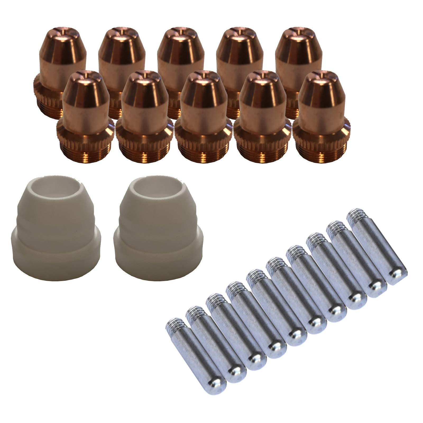 Lotos LCS22 Plasma Cutter Consumables Sets for Brown Color LT5000D and Brown Color CT520D (22 Pieces) by LOTOS