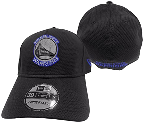 huge selection of bfdf5 3142b Golden State Warriors Black Tone Tech 2 39THIRTY Flex Fit Hat   Cap  Small Medium