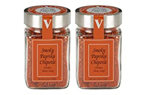 Smoky Paprika Chipotle- 5.4 oz. Jar (Pack of 2) – The ultimate balance of mesquite smoke with savory and sweet. BBQ Season Perfection.