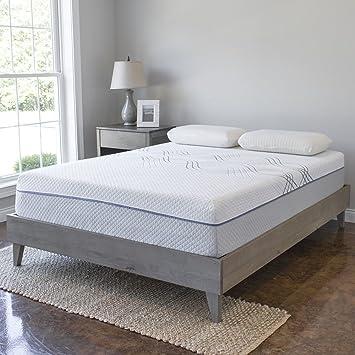 wood platform bed frame solid hardwood 100 handmade by amish craftsmen no - Mattress Frame