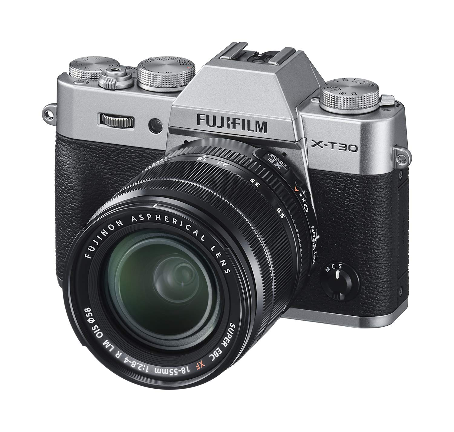 Fujifilm X-T30 Mirrorless Digital Camera w/XF18-55mm Kit - Silver