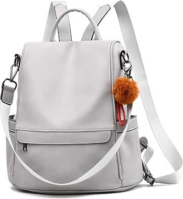 WGKUMMQN Womens Backpack Flip Anti-Theft Shoulder Bag Pu Leather Fashion Casual Waterproof Bag Student Bag