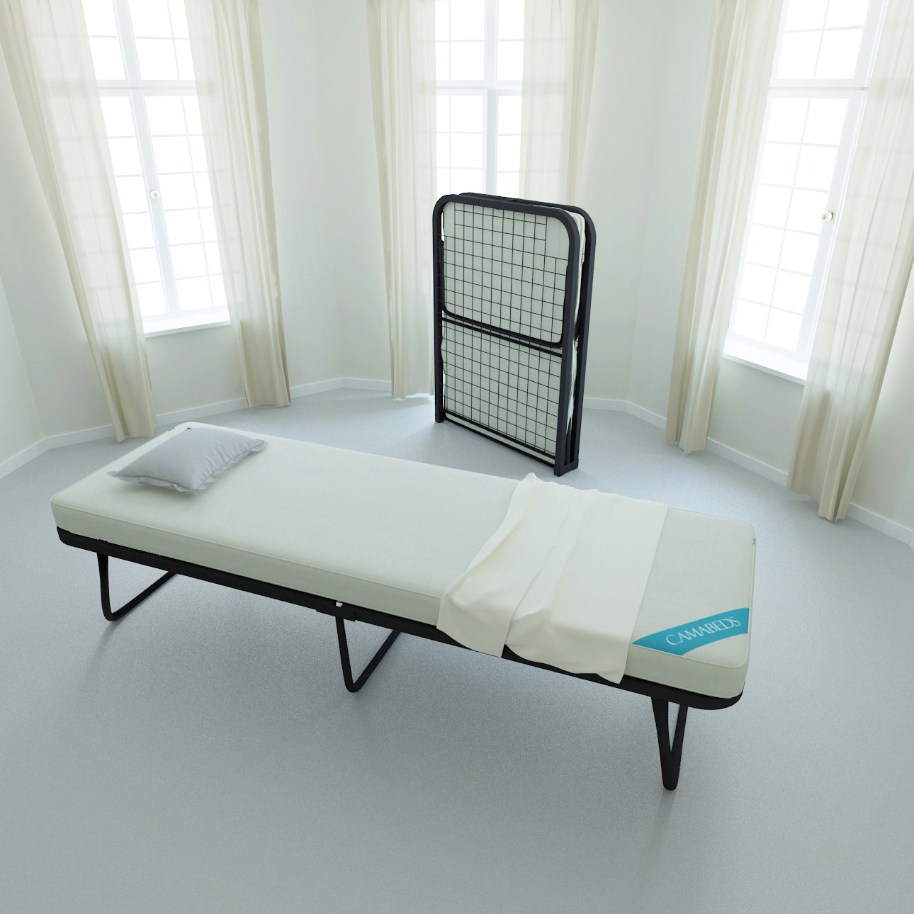 - Camabeds Needus Single Small Size Lightweight Folding Bed With 3.5