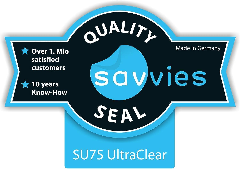 2.4 Zoll 36.98 mm x 49.29 mm, 4:3 Displayschutz-Folie Ultra-transparent Savvies 6X Schutzfolie f/ür Standardgr/ö/ßen mit 6.1 cm