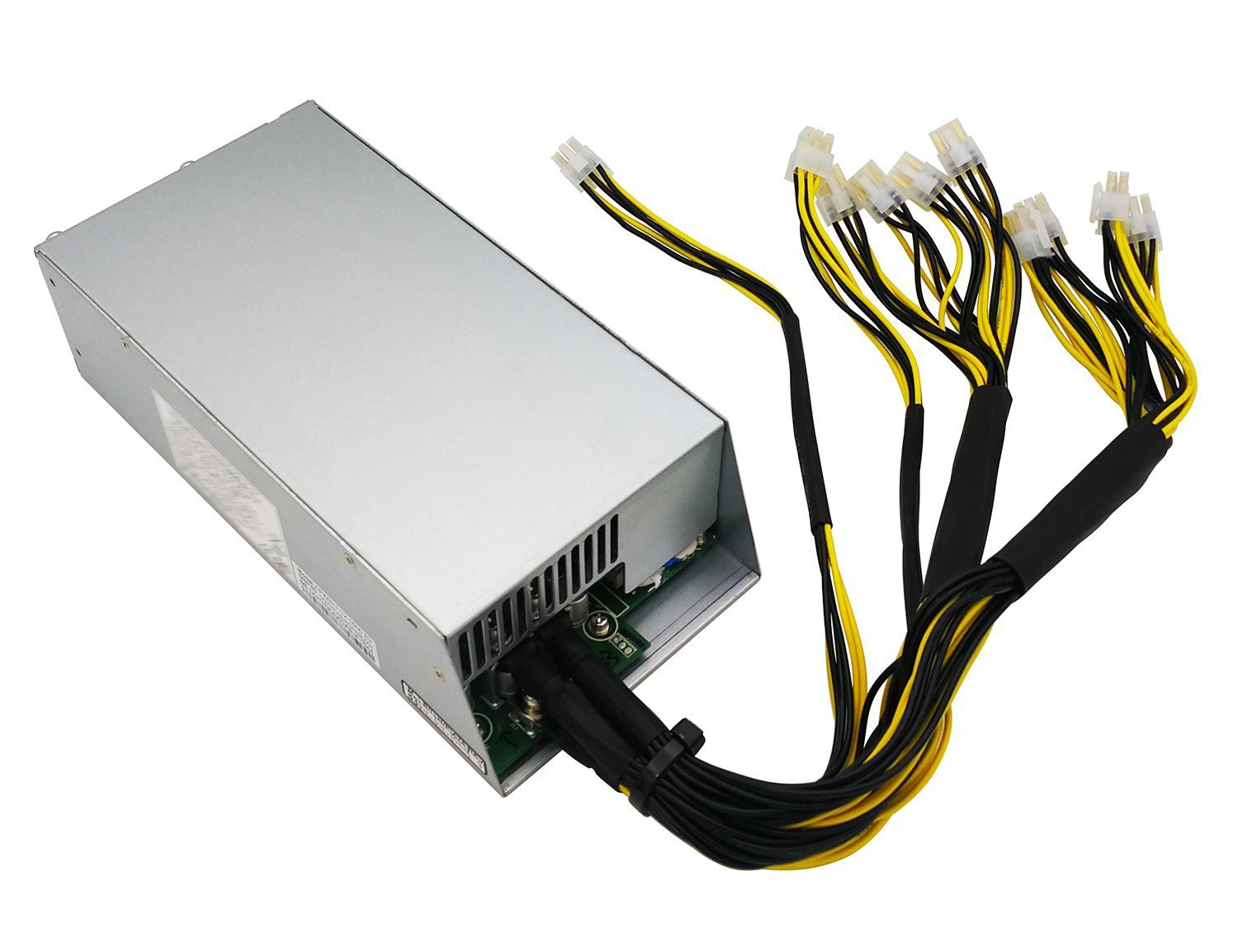 Switching Power Supply for Bitmain AntMiner L3+ S9 T9 (Model Number: APW3++-12-1600-A3), Wide Voltage Design, 1200W / 1600W , 10 of 6-pin PCIe Connectors