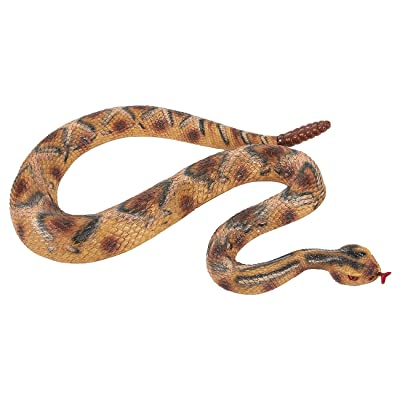 Blue Panda Realistic Fake Rattlesnake - Rubber Snake - Perfect for Halloween Decorations, Pranks or as Squirrel Repellent -Multicolored, 47 x 1.5 x 2 Inches: Home & Kitchen