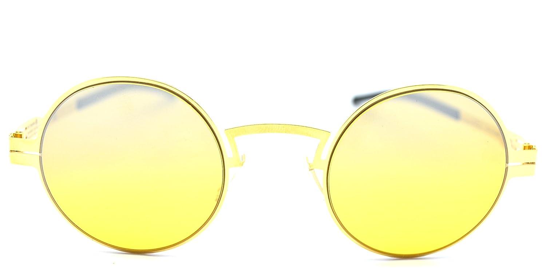 Amazon com: Ic!berlin sofia p  Sun Gold Round Sunglasses