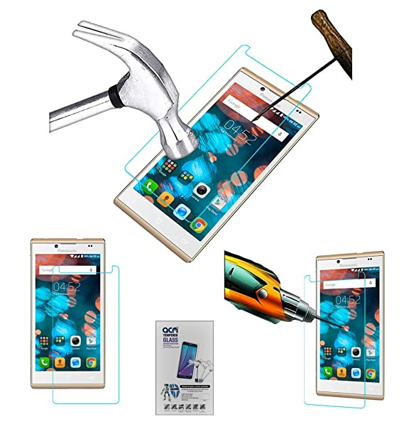 Acm Tempered Glass Screenguard Compatible with Panasonic P66 Mega Screen Guard Scratch Protector Screen Protectors