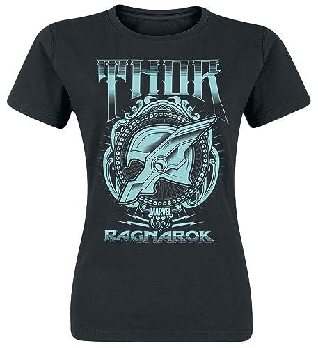 Thor Ragnarok Helmet Camiseta Mujer Negro