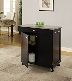 Attrayant Oliver And Smith   Nashville Collection   Mobile Kitchen Island Cart On  Wheels   Black