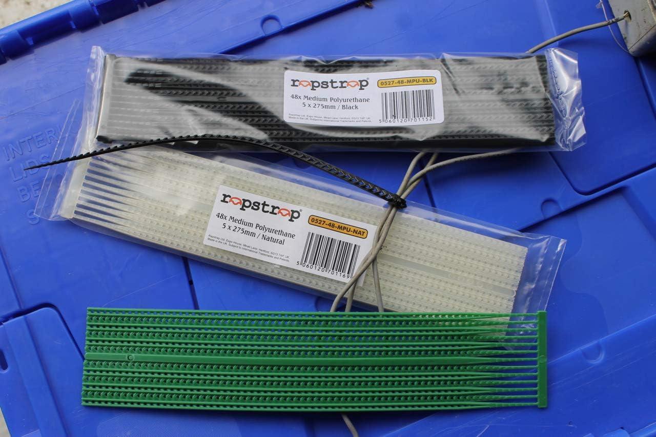 Rapstrap i-Tie Bridas multiusos y reutilizables color verde 48 unidades, 275 x 4,8 mm, 30/% material reciclado