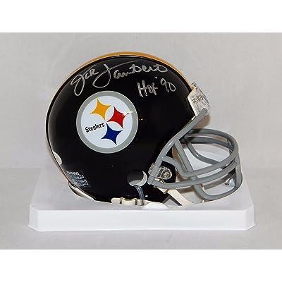 221bc29a6 Signed Jack Lambert Mini Helmet - 63 76 TB W HOF W Auth  Silver - JSA  Certified - Autographed NFL Mini Helmets
