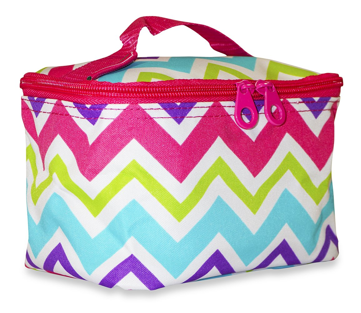 Amazon.com   Ever Moda Multi-color Chevron Makeup Bag (Pink)   Beauty cc01c2baa0ecf