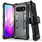 VENA Galaxy S10 Plus Rugged Case, vArmor (Military Grade Drop Protection) Heavy Duty Holster Belt Clip Cover with…