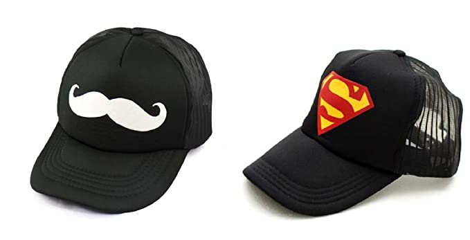 a2f1413089c ... Michelangelo Yellow Superman Half Net Baseball CAP and Mooch Half Net  UNISEX CAP COMBO size 7 . ...