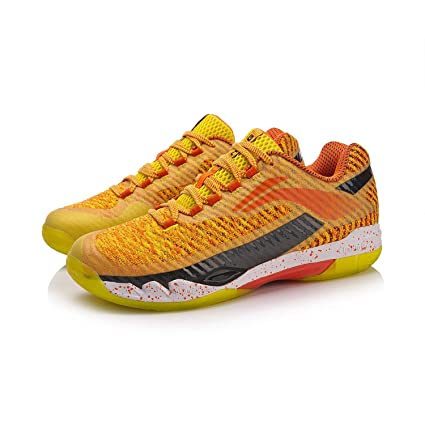 Amazon.com  LI-NING 2018 Men Badminton Shoes AYAN011-1 Orange ... 69475a774