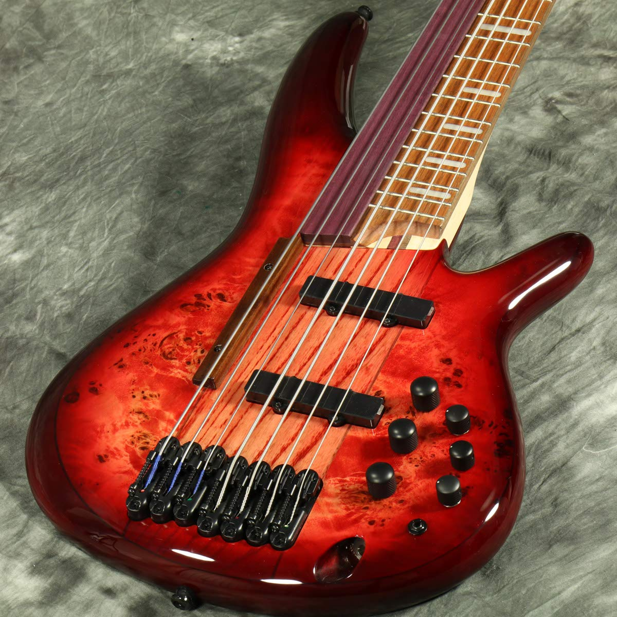 Ibanez/SRAS7 Raspberry Stained Burst Gloss アイバニーズ 阿修羅ベース   B07D21QQYV